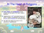 at the heart of religions