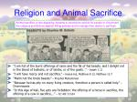 religion and animal sacrifice