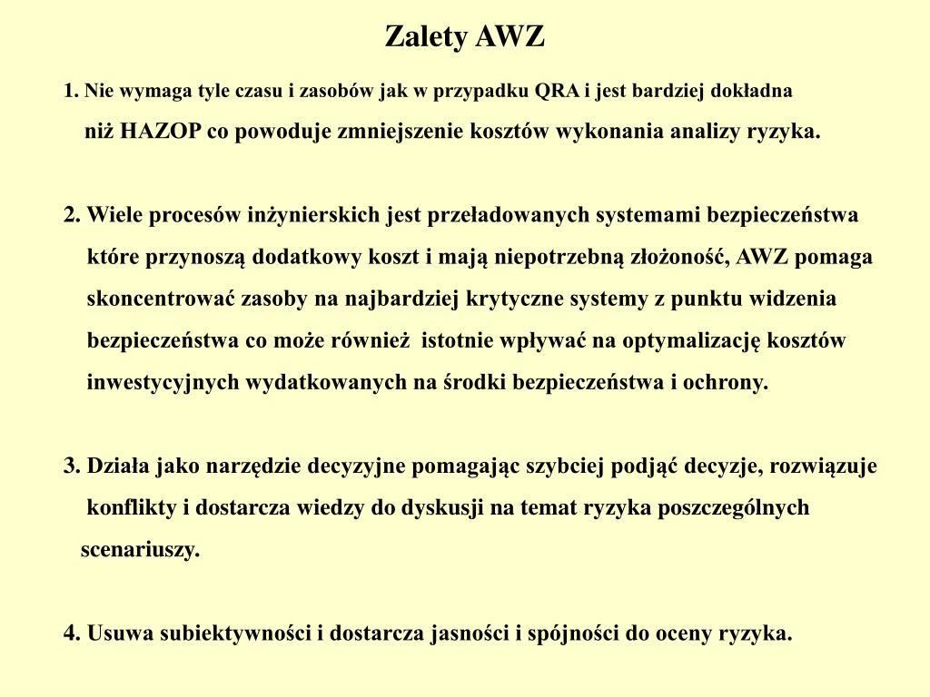 Zalety AWZ