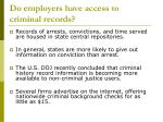 do employers have access to criminal records