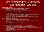 working group on standards coordination wg sc