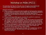 workshop on ngns pcc i