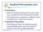 bradford hill example cont