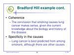 bradford hill example cont56