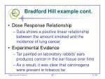 bradford hill example cont57