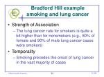 bradford hill example smoking and lung cancer