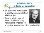 bradford hill s criteria for causation