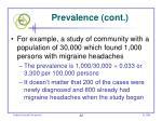 prevalence cont