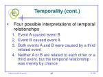 temporality cont