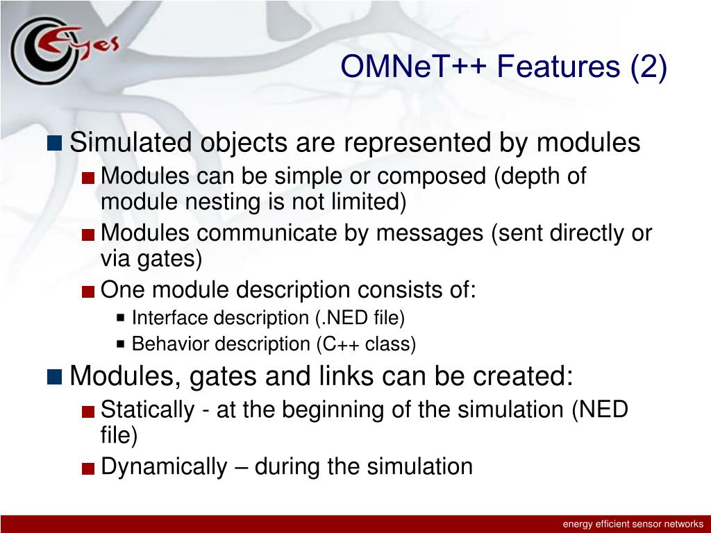 OMNeT++ Features (2)