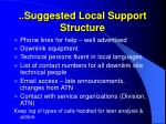 suggested local support structure