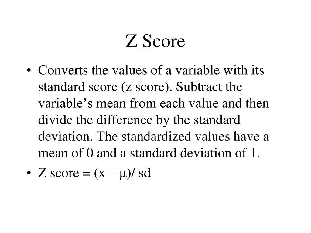 Z Score