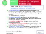 careers for computer professionals