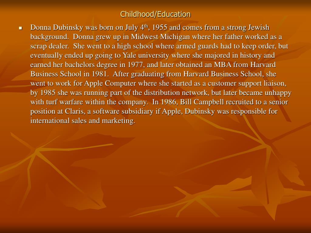 Childhood/Education