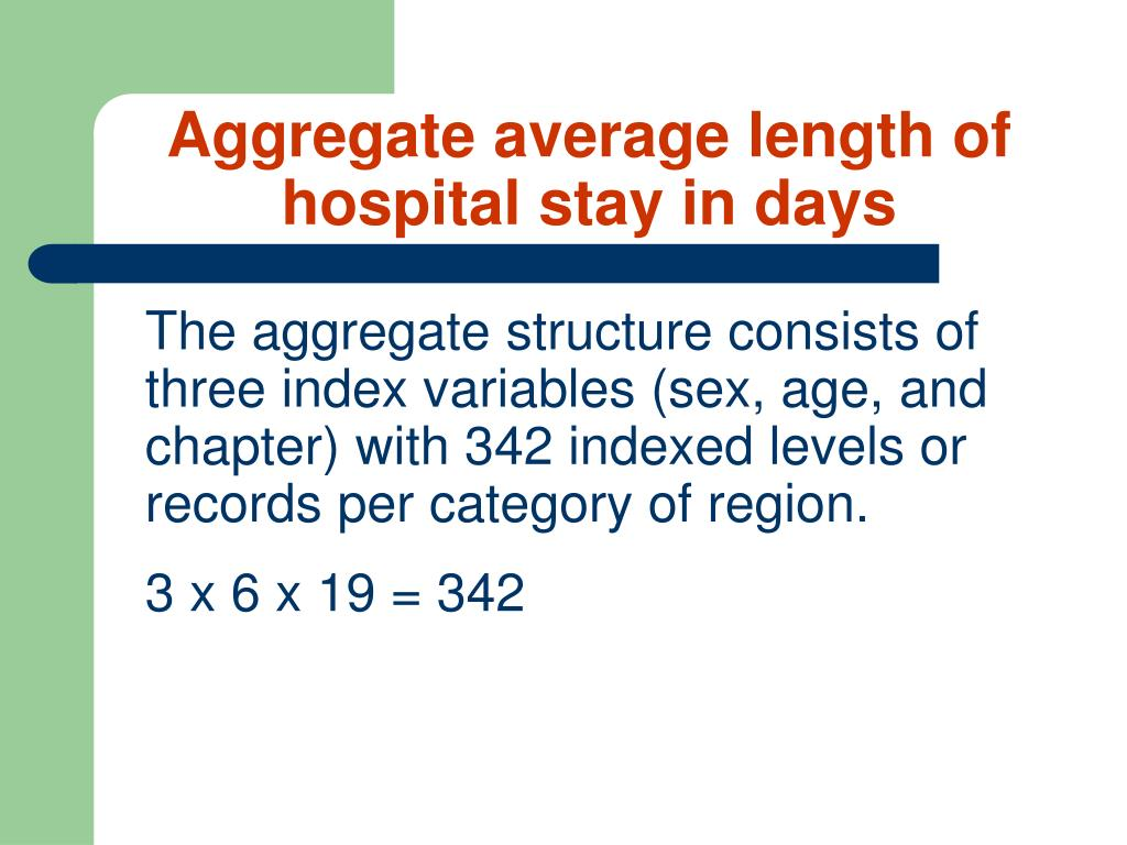 Aggregate average length of hospital stay in days