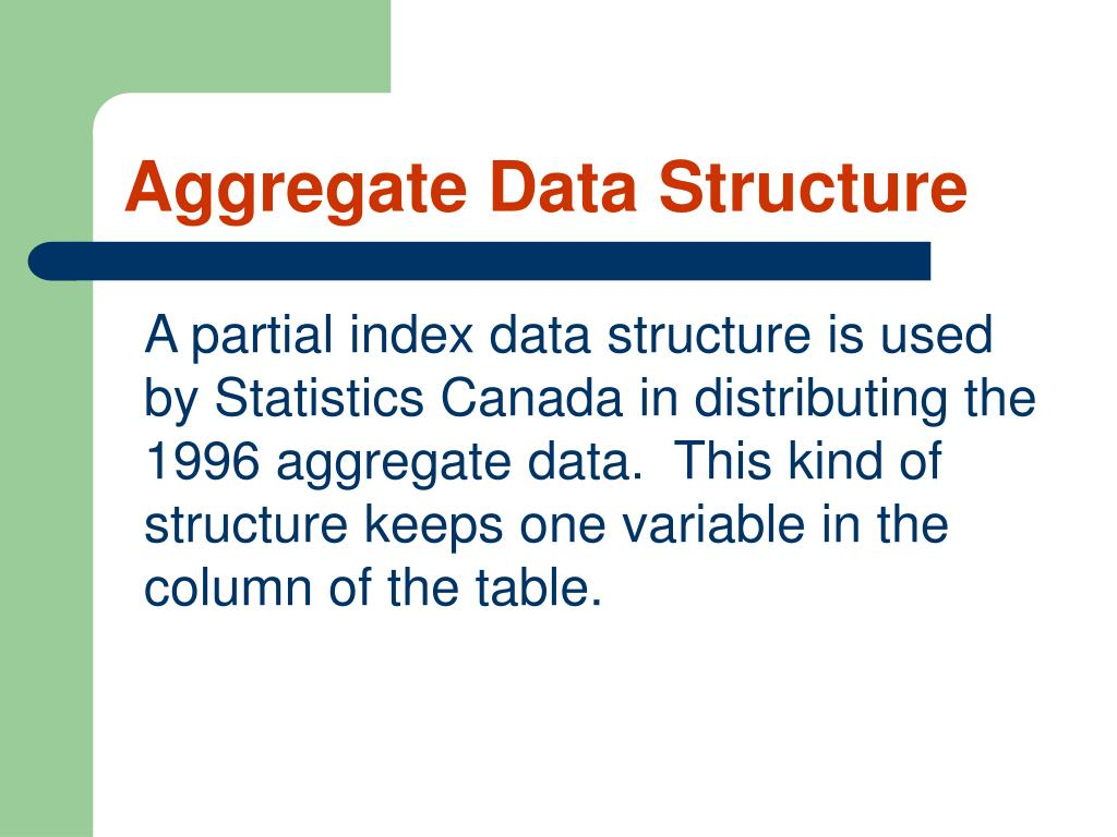 Aggregate Data Structure