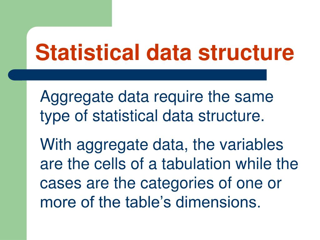 Statistical data structure