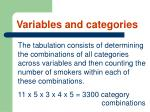 variables and categories14