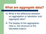 what are aggregate data21