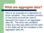 what are aggregate data24