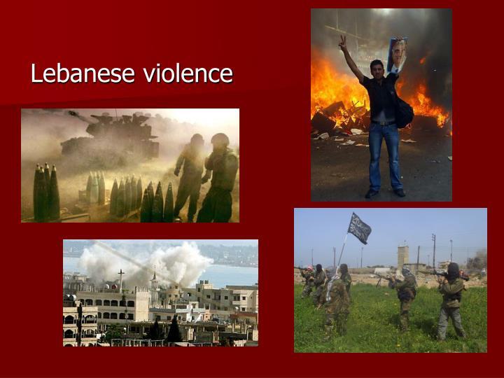 Lebanese violence