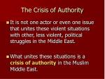 the crisis of authority