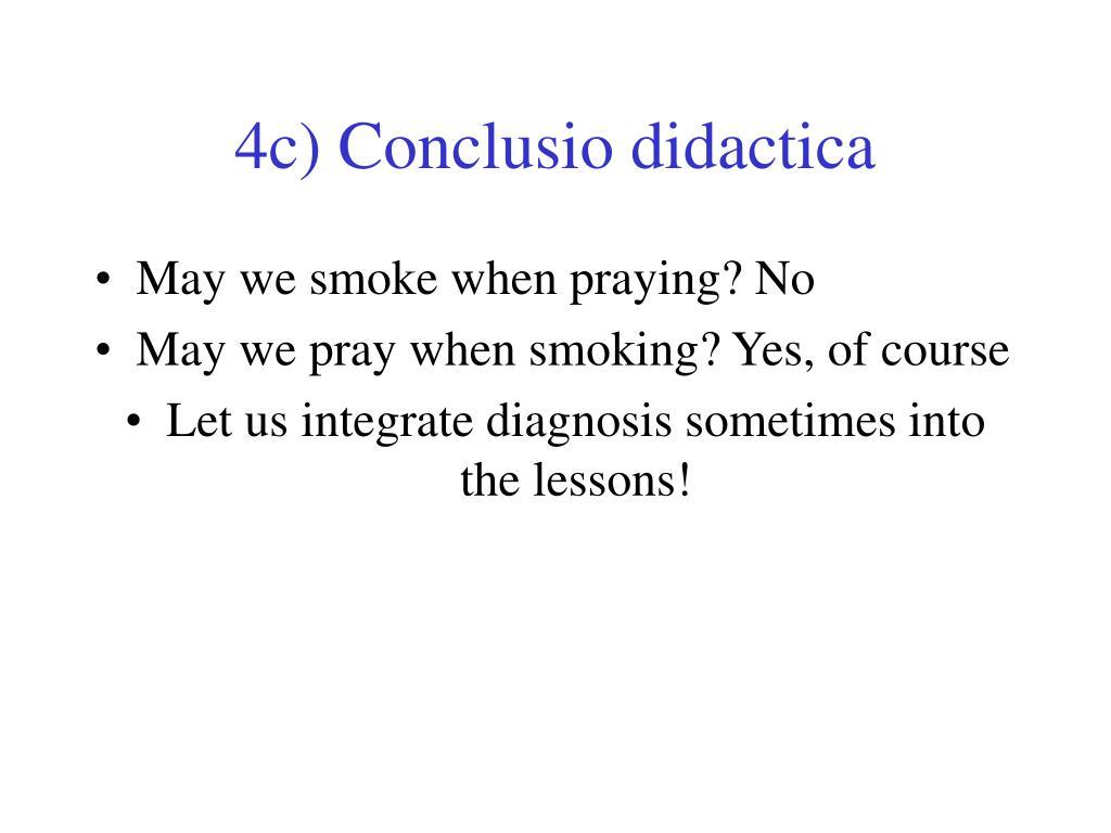 4c) Conclusio didactica