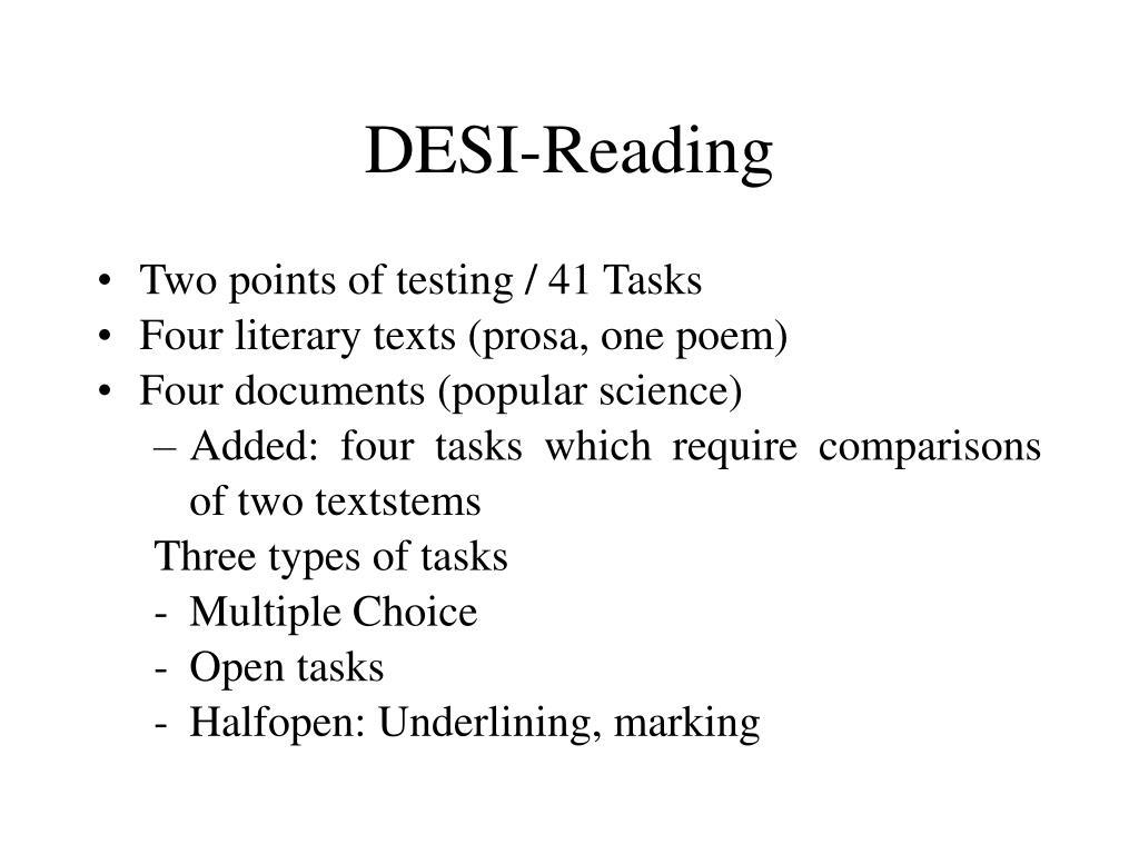 DESI-Reading