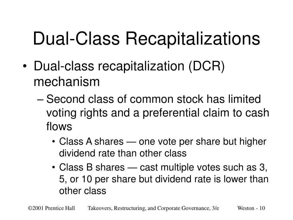 Dual-Class Recapitalizations