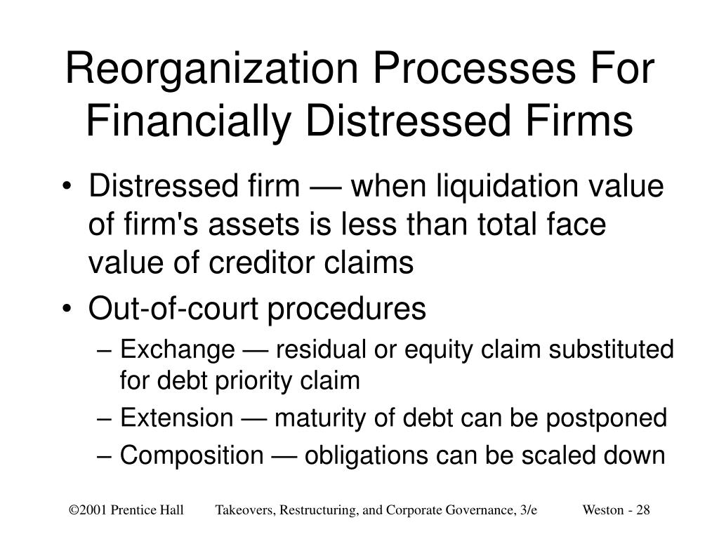Reorganization Processes For Financially Distressed Firms