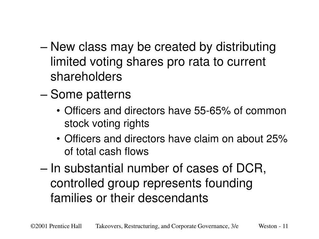 New class may be created by distributing limited voting shares pro rata to current shareholders