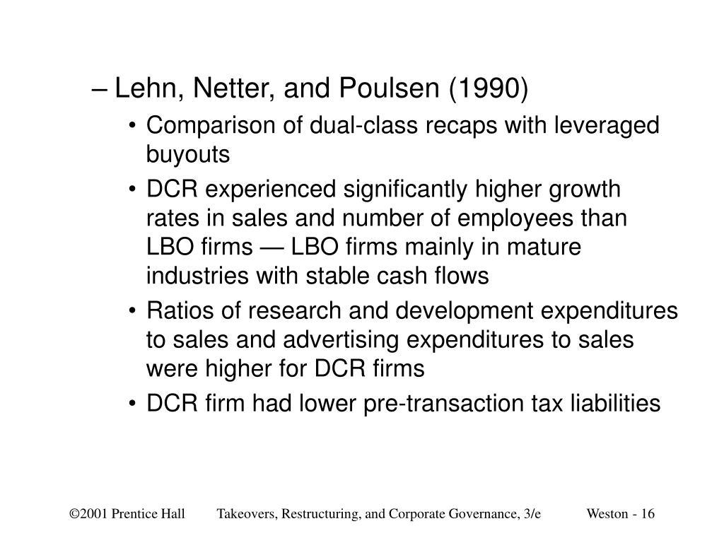 Lehn, Netter, and Poulsen (1990)