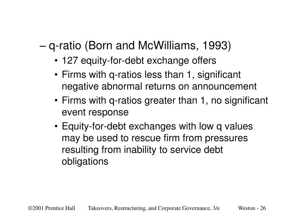 q-ratio (Born and McWilliams, 1993)
