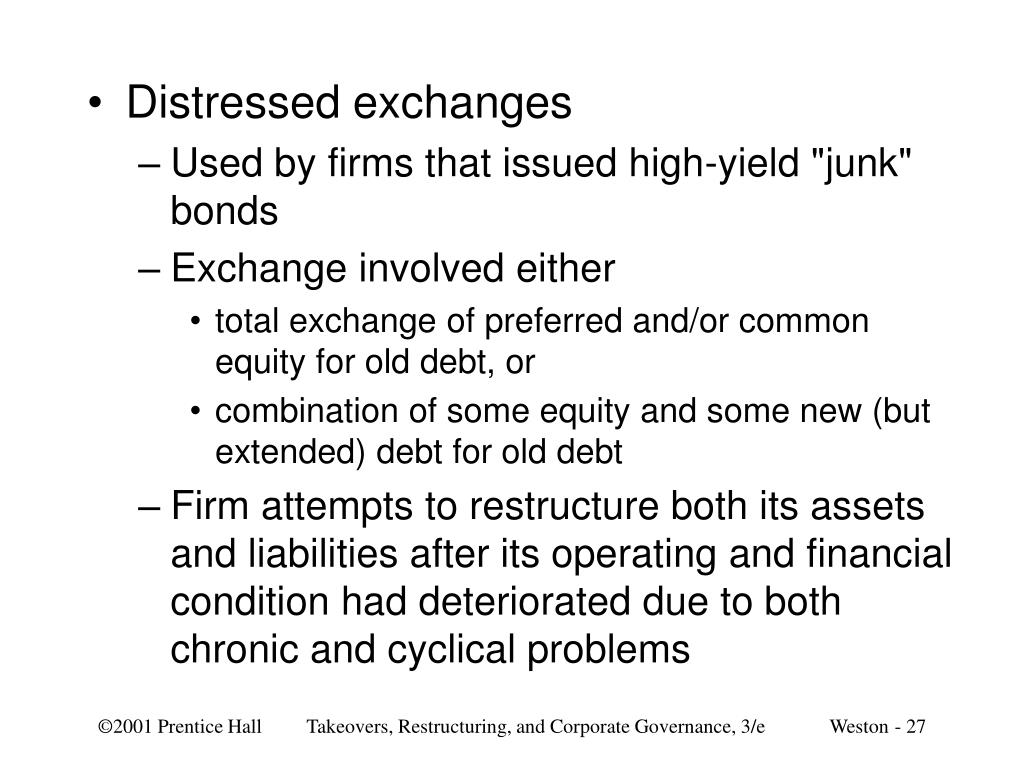 Distressed exchanges