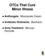 otcs that cure minor illness