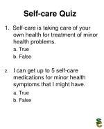 self care quiz19