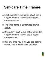 self care time frames
