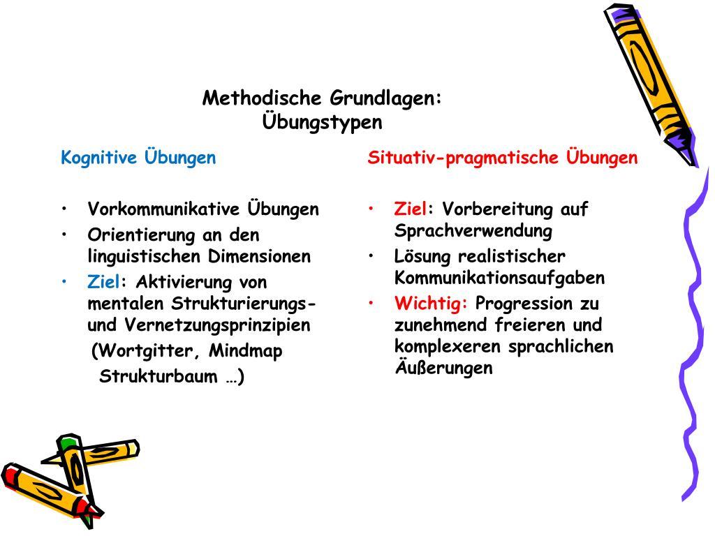 Methodische Grundlagen: