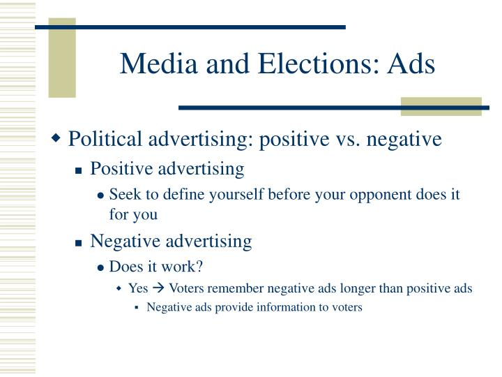 Media and Elections: Ads