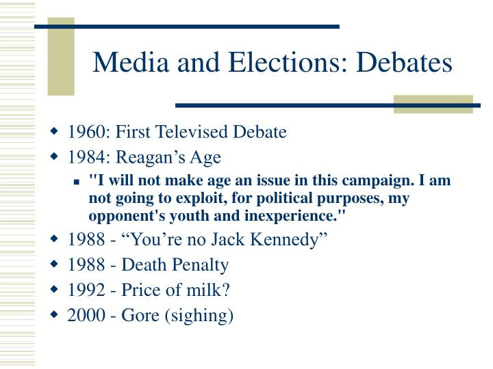 Media and Elections: Debates