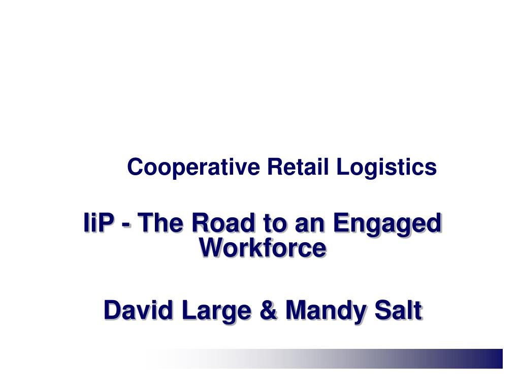 Cooperative Retail Logistics