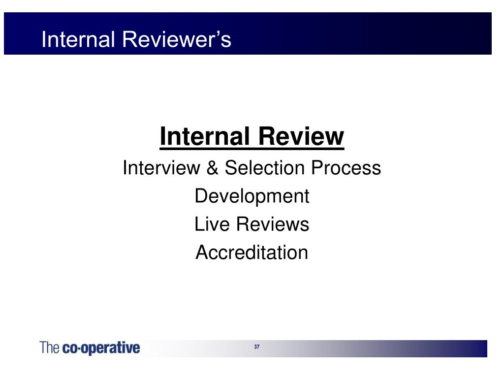 Internal Reviewer's