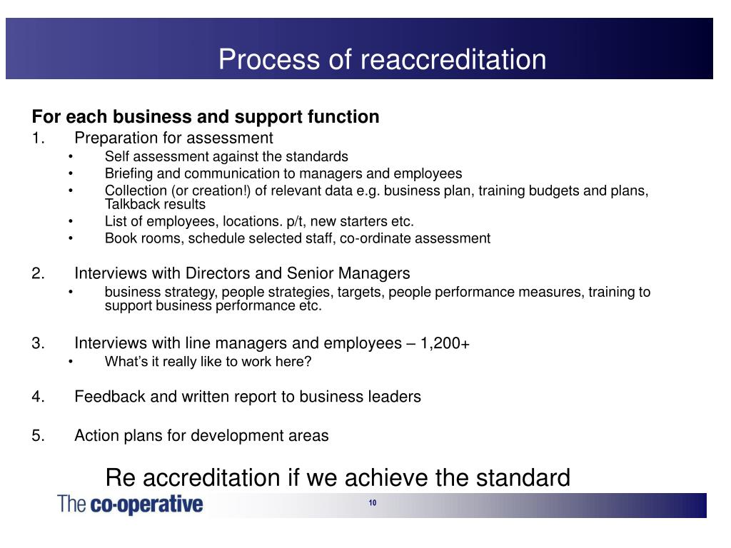 Process of reaccreditation