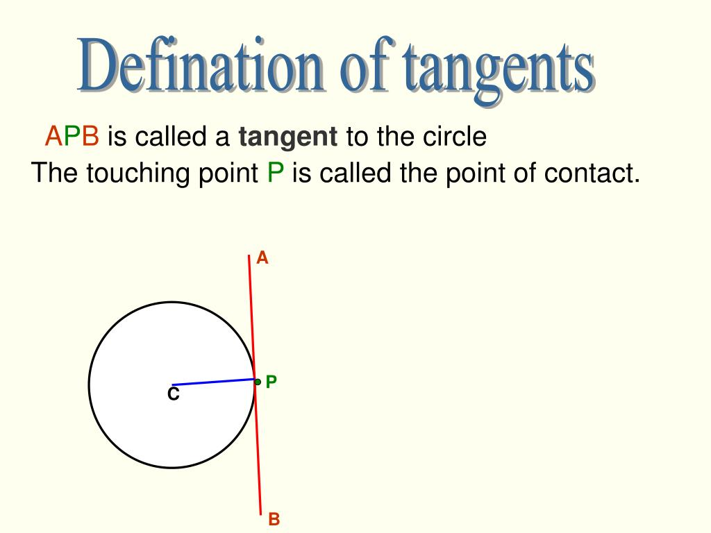 Defination of tangents