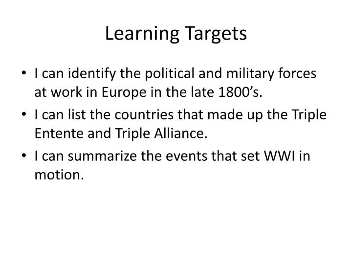 Learning targets l.jpg
