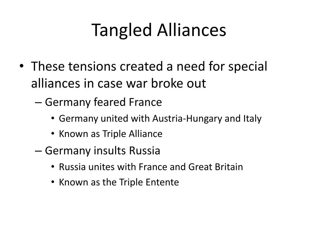 Tangled Alliances