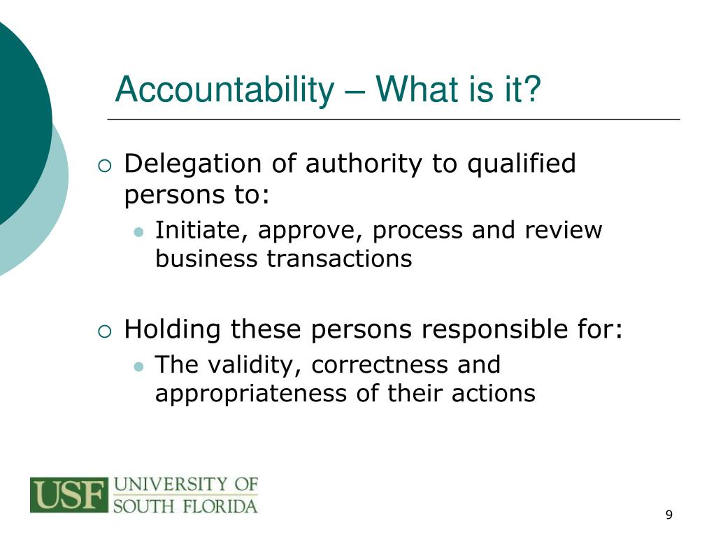Accountability – What is it?