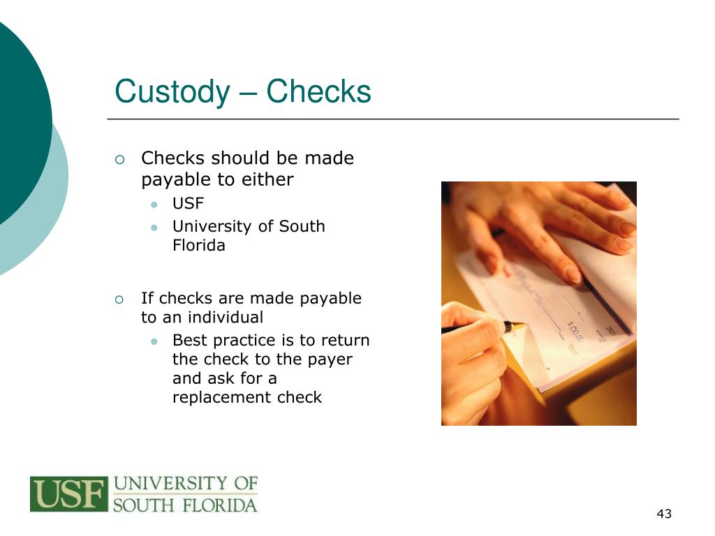 Custody – Checks