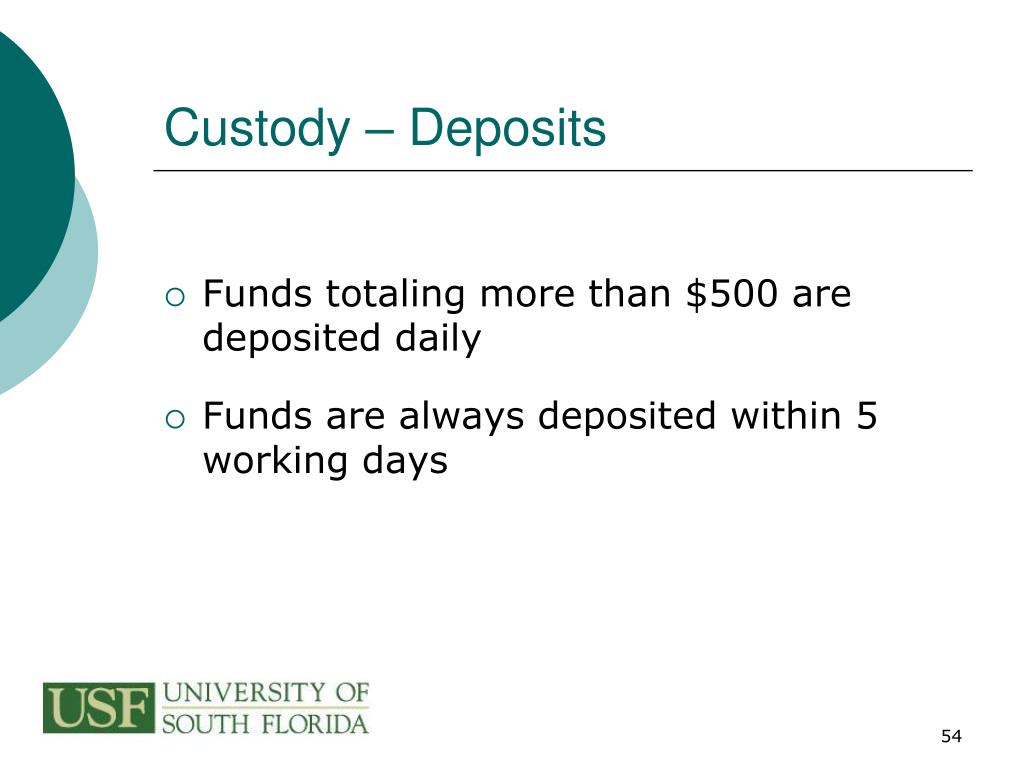 Custody – Deposits