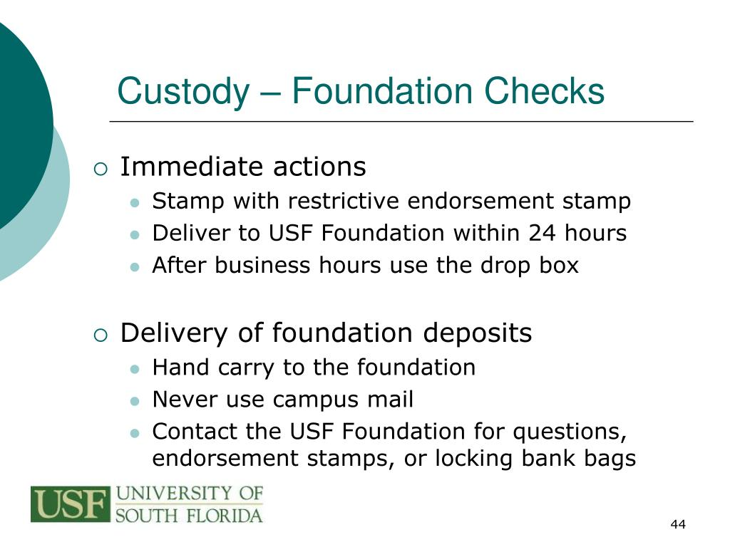 Custody – Foundation Checks
